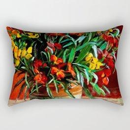 """Wallflowers"" by Margaret Olley Rectangular Pillow"