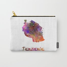 Tanzania  in watercolor Carry-All Pouch