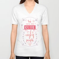 lettering V-neck T-shirts featuring Lettering - Juno by aysenur