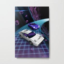 Lunar Highway Race Metal Print