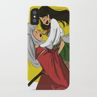 inuyasha iPhone & iPod Cases featuring Inuyasha and Kagome by Lara Pickle