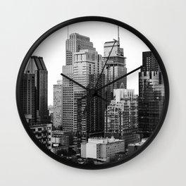 Montreal Québec, Canada City Skyline Downtown Wall Clock