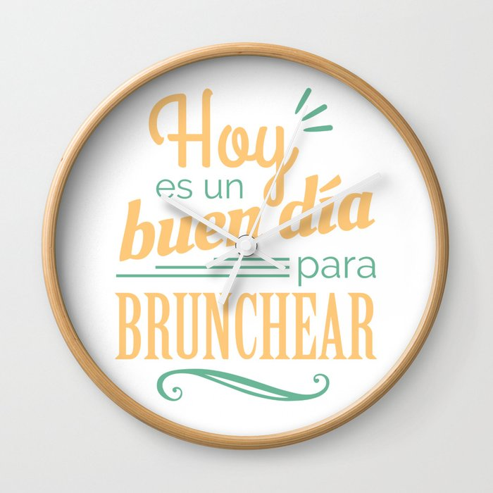 Today is a good day to brunch Wall Clock