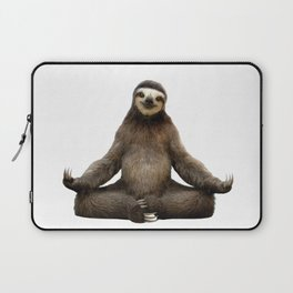 Sloth Yoga Art Print Laptop Sleeve