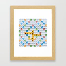 dirty words with friends Framed Art Print