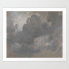 John Constable 1776–1837   Cloud Study Art Print