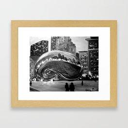 Chicago Bean Painting Framed Art Print