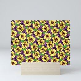 Grungy Roses Pattern Mini Art Print