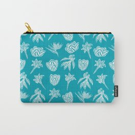 Retro Polynesian Tribal Geometric Floral Graphic Tattoo Carry-All Pouch