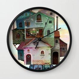 Big portable house Wall Clock