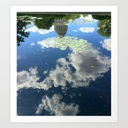 Reflection of Missouri Capitol at Governor's Garden Art Print