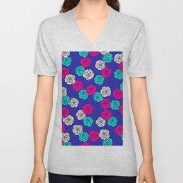 Pop Roses Pattern Unisex V-Neck