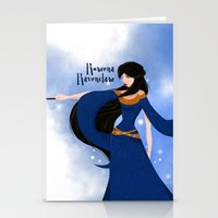 ravenclaw Stationery Cards featuring Rowena Ravenclaw by Hailey Del Rio