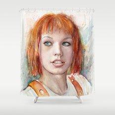 Leeloo Portrait Fifth Element Art Shower Curtain