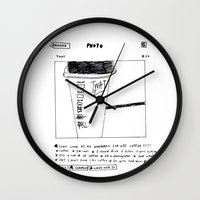 instagram Wall Clocks featuring instagram fucker by Jonathan Evans
