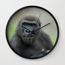 Lovable Gorilla Rascal Lope Wall Clock