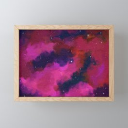 Between Worlds, Universe Space Stars Nebula Framed Mini Art Print