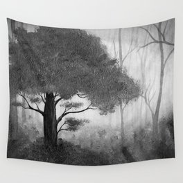 The Dark Forest (B&W) Wall Tapestry