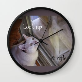Cat Reflected: Look Up & Reflect Wall Clock