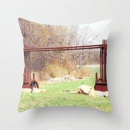 Farm Gate 2014-04-19 09.46.40 Throw Pillow