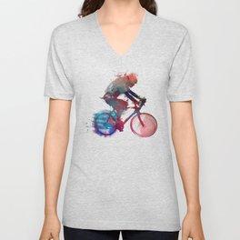 cyclist 1 #sport #cyclist Unisex V-Neck