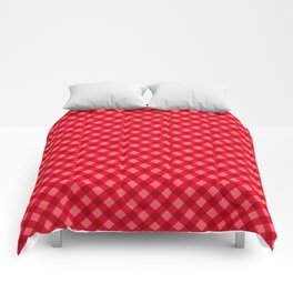 Gingham - Strawberry Color Comforters