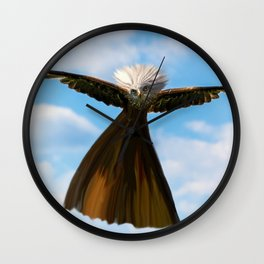Don't mess with Misses Eagle Wall Clock