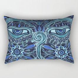 The Eyes of Buddha Rectangular Pillow