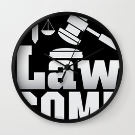 Lawsome Lawyer justice Lawyer court shirt Wall Clock
