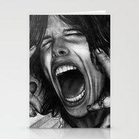 tyler spangler Stationery Cards featuring Steve Tyler by ''Befne''