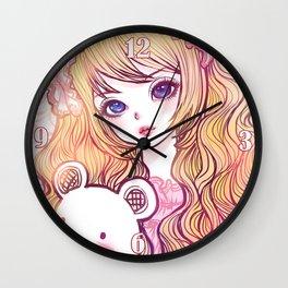 bunbunjii goldhair *GirlsCollection* Wall Clock