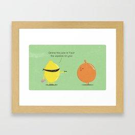 Lemon thief Framed Art Print