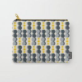 Uende Grayellow - Geometric and bold retro shapes Carry-All Pouch