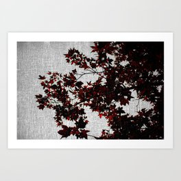 Black and Red Leaves Art Print