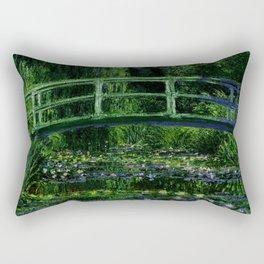The Water Lily Pond Deep & Dark Rectangular Pillow