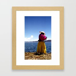 Lake titicaca 2 Framed Art Print