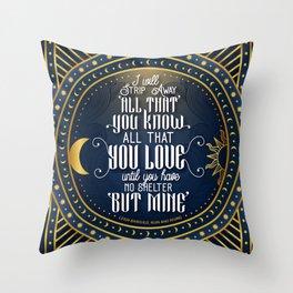 No shelter Throw Pillow