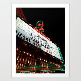 Night at the Movies Art Print