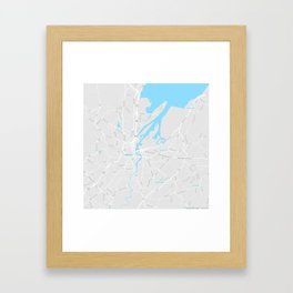 Minimalist Modern Map of Belfast, North Ireland Framed Art Print