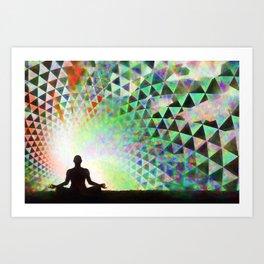 Fractured Vortex Art Print