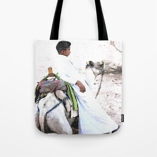 Bedouin Boy in watercolour Tote Bag