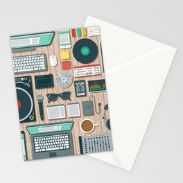 DJ's Workspace Stationery Cards