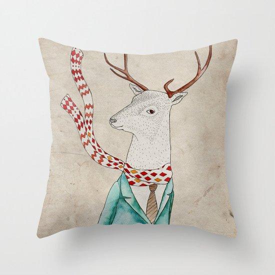 Dear deer. Throw Pillow