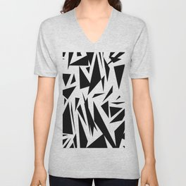 Black shapes Unisex V-Neck