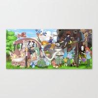 ghibli Canvas Prints featuring Ghibli Tribute by Hyung86