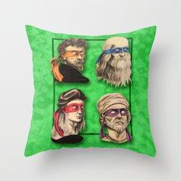 Renaissance Mutant Ninja Artists Throw Pillow