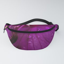 Royal Princess flower macro with water droplets - Floral Photography #Society6 Fanny Pack