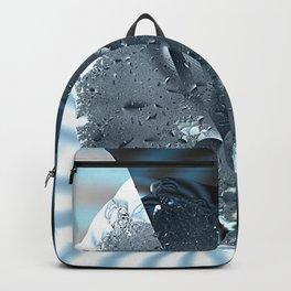 Metallic shine on a yin yang type fractal form Backpack