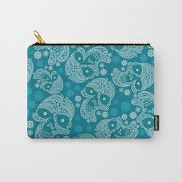 Sugarskull Mandala Pattern Carry-All Pouch
