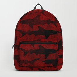 Blood Red Sharks Backpack